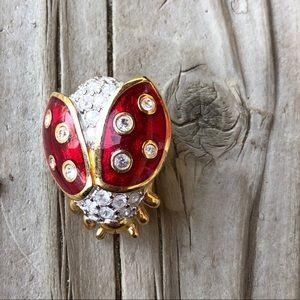 Like New Swarovski Ladybug Brooch!